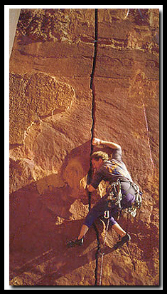 Bo Beck in his younger days - climbing